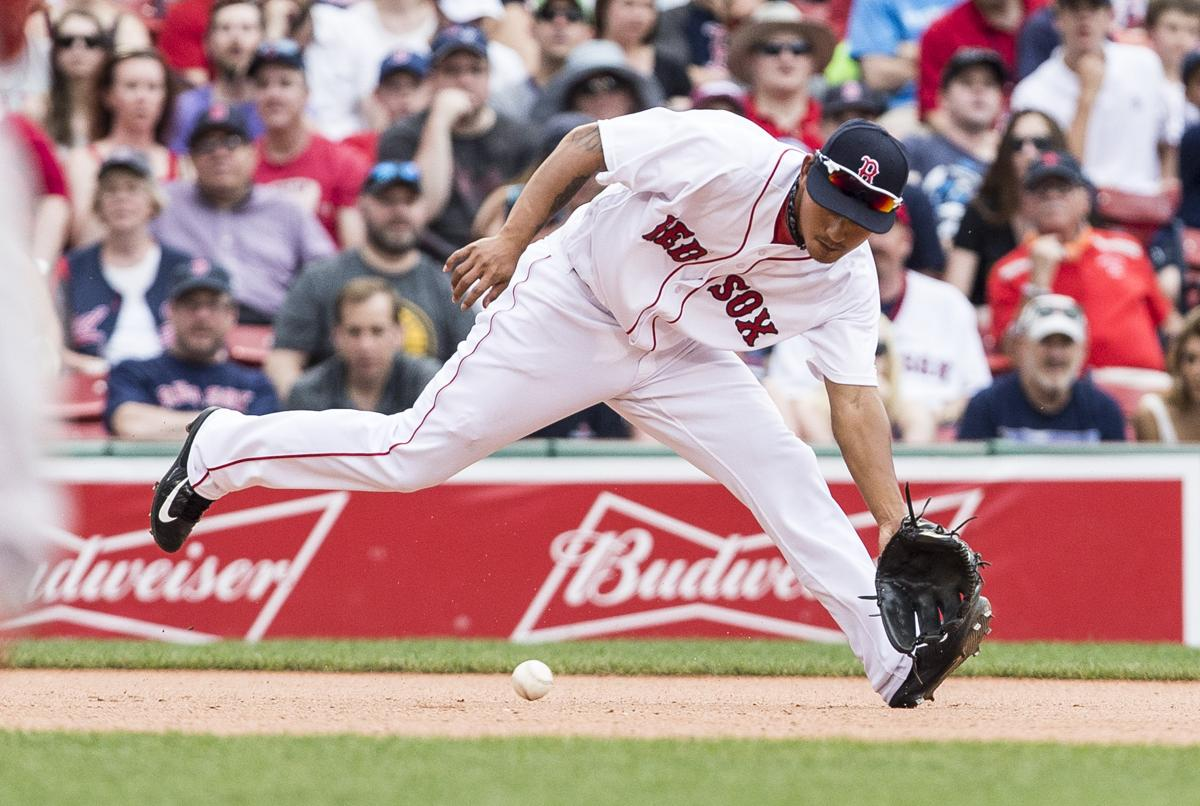 Game 76 twins at red sox lineups and notes boston ma 6252017 boston red soxs third baseman tzu voltagebd Images