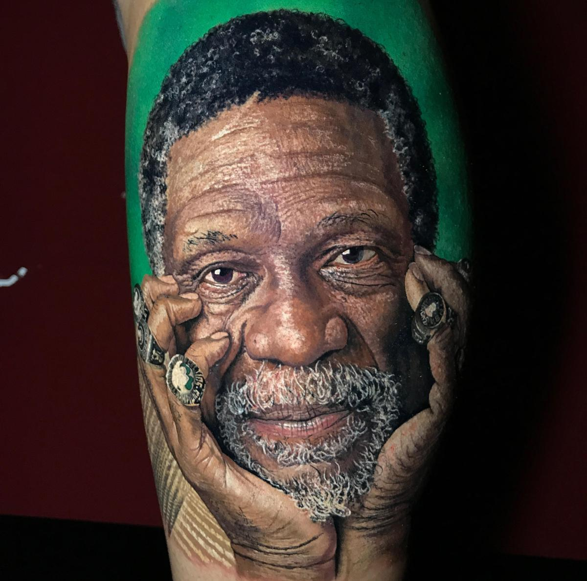 There s quite a story behind this Celtics fan s Bill Russell tattoo