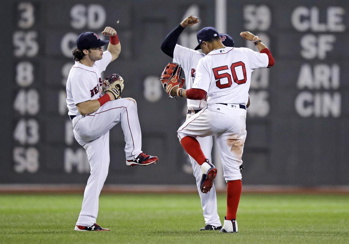 At their core red sox have a bit of a problem right now boston red sox left fielder andrew benintendi left right fielder mookie betts 50 voltagebd Images