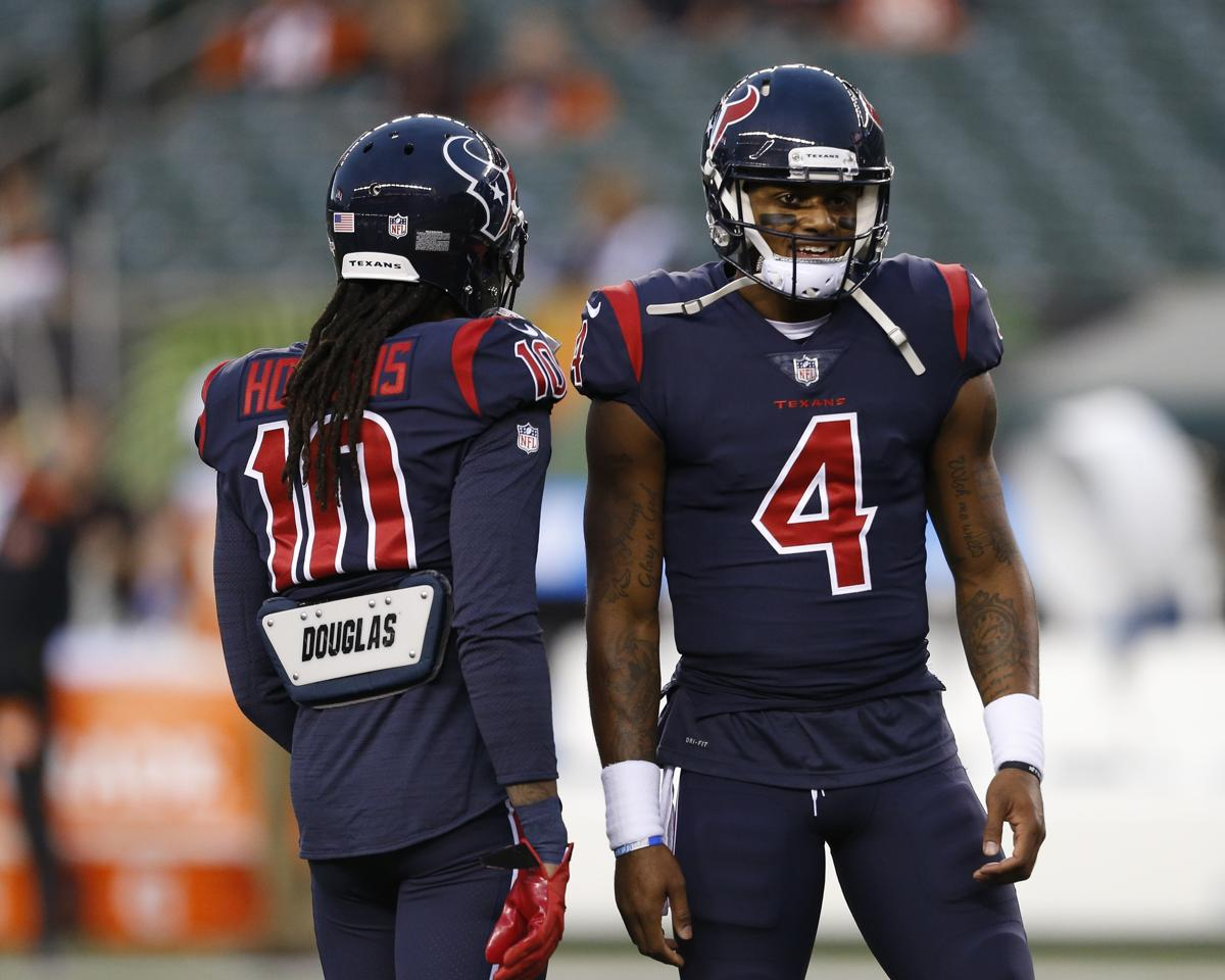 DeAndre Hopkins has caught 13 passes from Deshaun Watson for 121 yards 4f8e998a1
