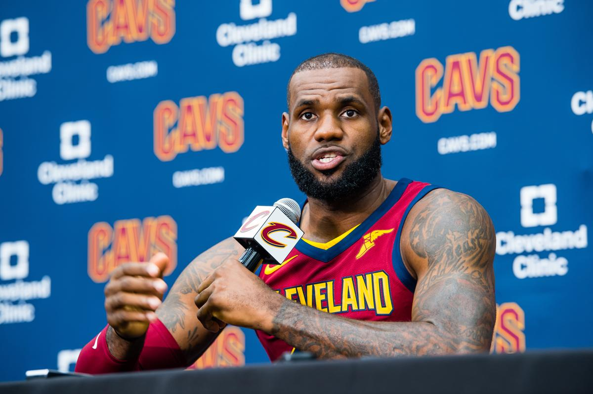 Stong quote by lebron james on the bond with his teammates - Independence Oh September 25 Lebron James 23 Of The Cleveland Cavaliers Talks