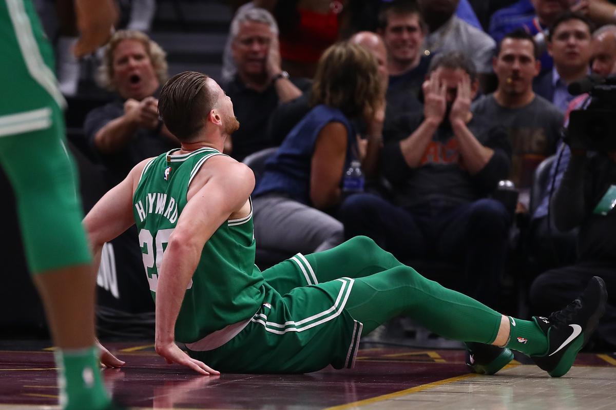 Gordon Hayward Suffers Fractured Left Ankle In Celtics Game Against