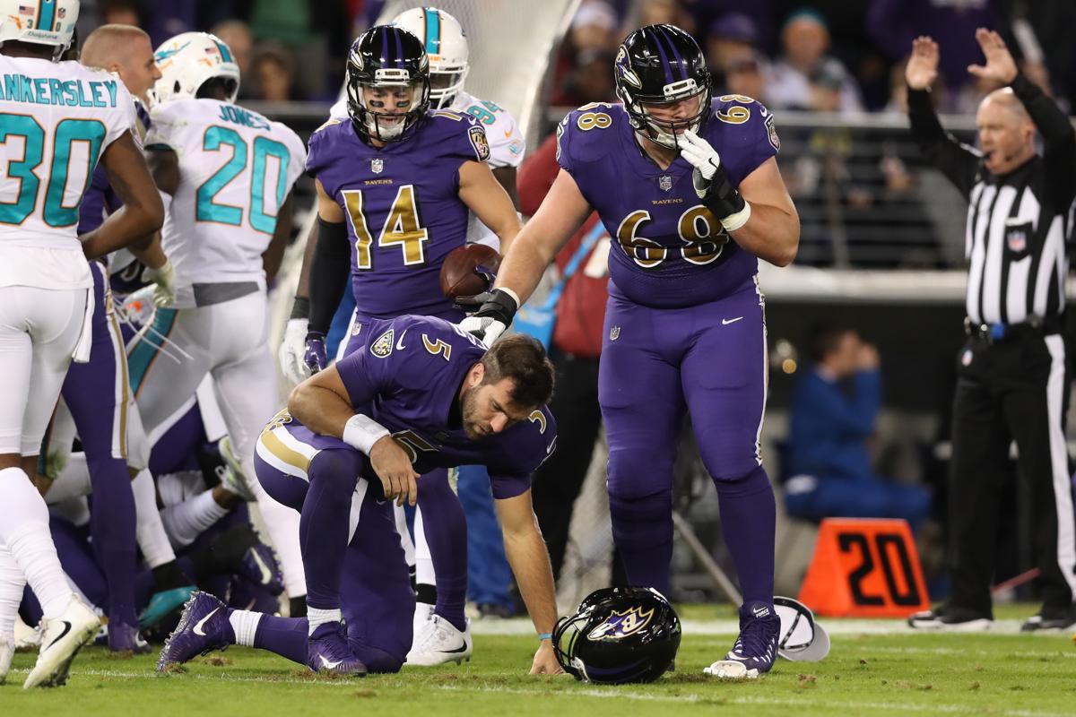 Ravens lose Joe Flacco still rout Dolphins