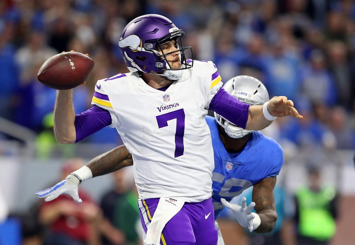 Detroit Mi November 23 Quarterback Case Keenum 7 Of The Minnesota Vikings