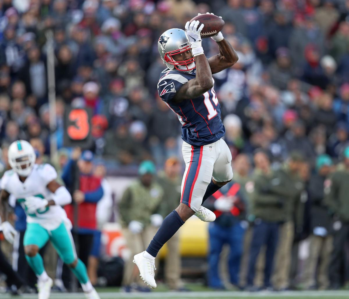 Patriots Brandin Cooks finding the favored route