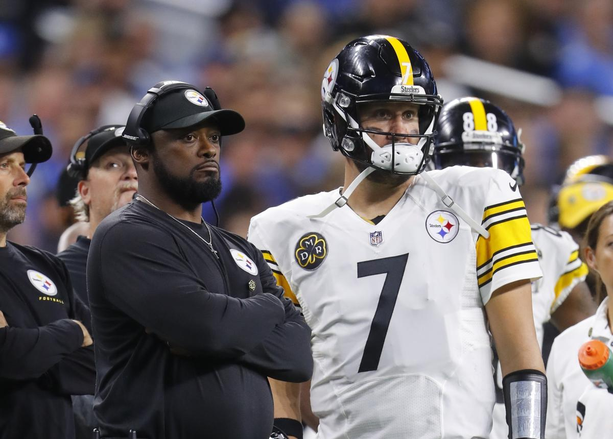 39e8e47e8 Pittsburgh Steelers quarterback Ben Roethlisberger (7) stands with head  coach Mike Tomlin during the