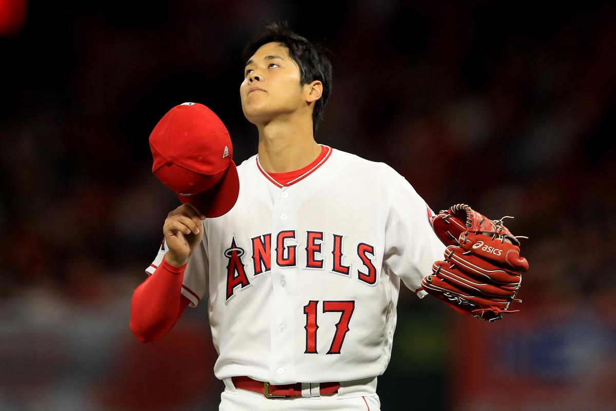 Angels pitcher Shohei Ohtani had a rough night Tuesday, and he left the game after two innings.