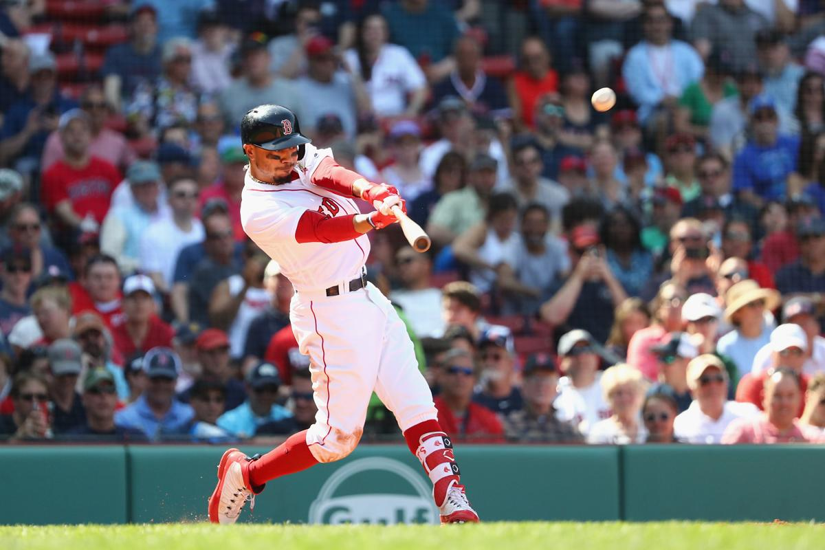 7a386da543c Another three-homer game gives Mookie Betts a Red Sox record