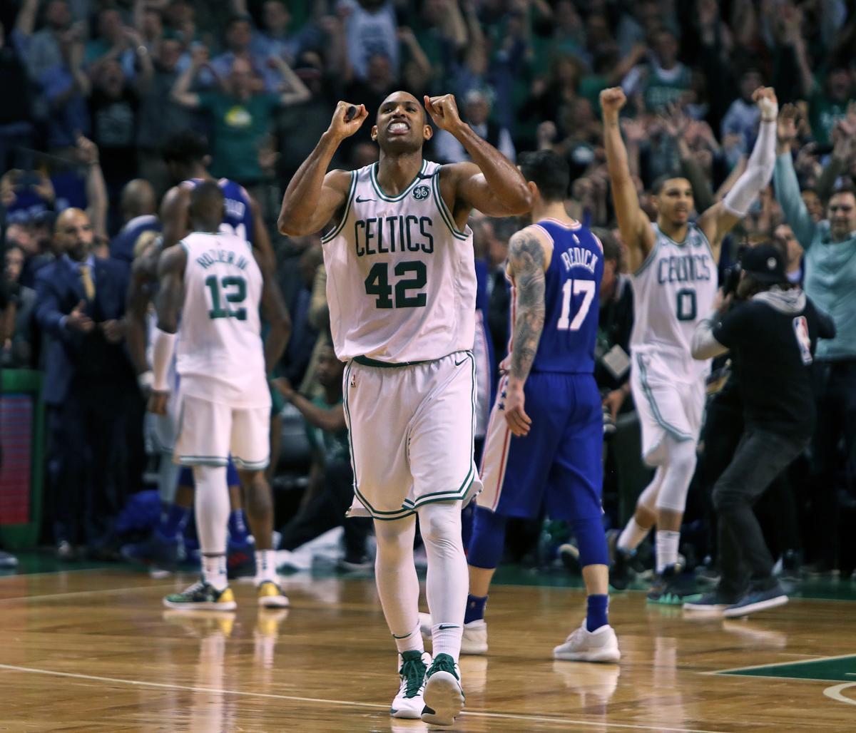 A triumphant Al Horford started the Garden party along with Celtics rookie  Jayson Tatum (0 843ee8392