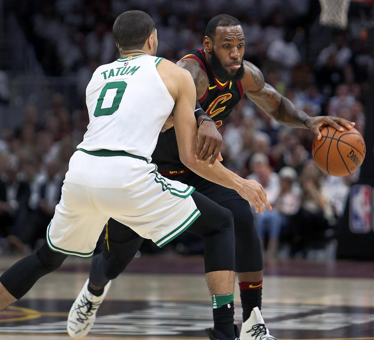 Cleveland Oh  The Cavaliers Lebron James Moves Past