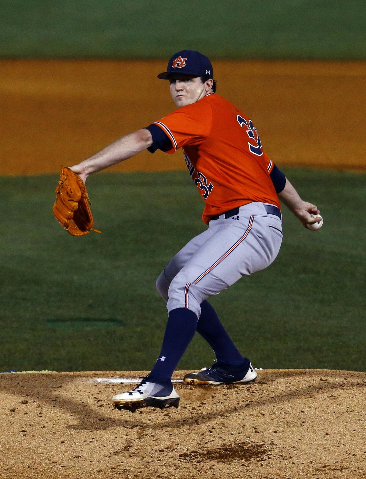 d5b3175ed 1 to Tigers in MLB Draft. By Dennis Waszak Jr. File-This May 24, 2018, file  photo shows Auburn pitcher Casey Mize throwing
