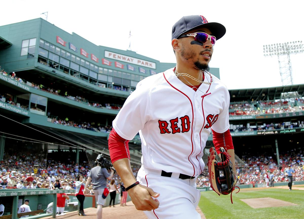 instead of mike trout how about making mookie betts the face of
