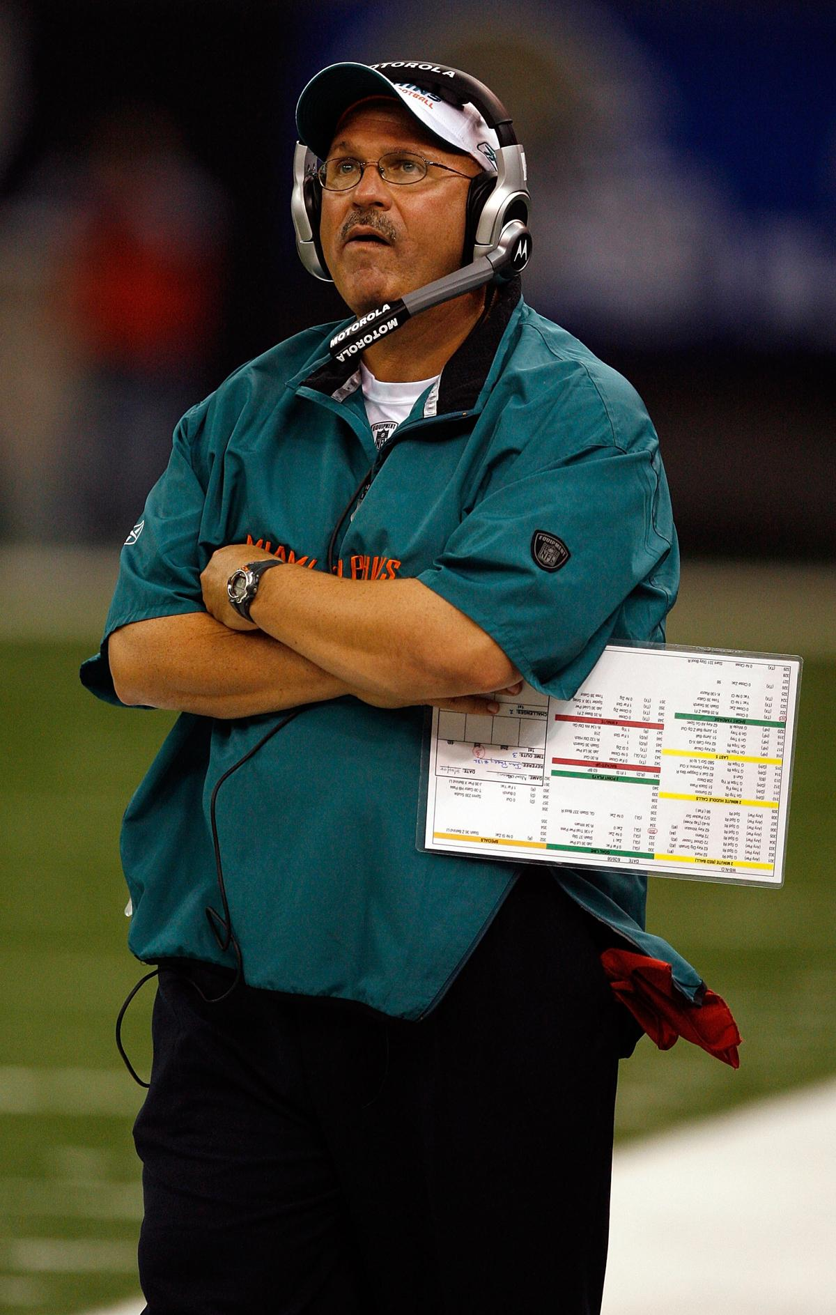 New Orleans August 28 Head Coach Tony Sparano Of The Miami Dolphins Looks To