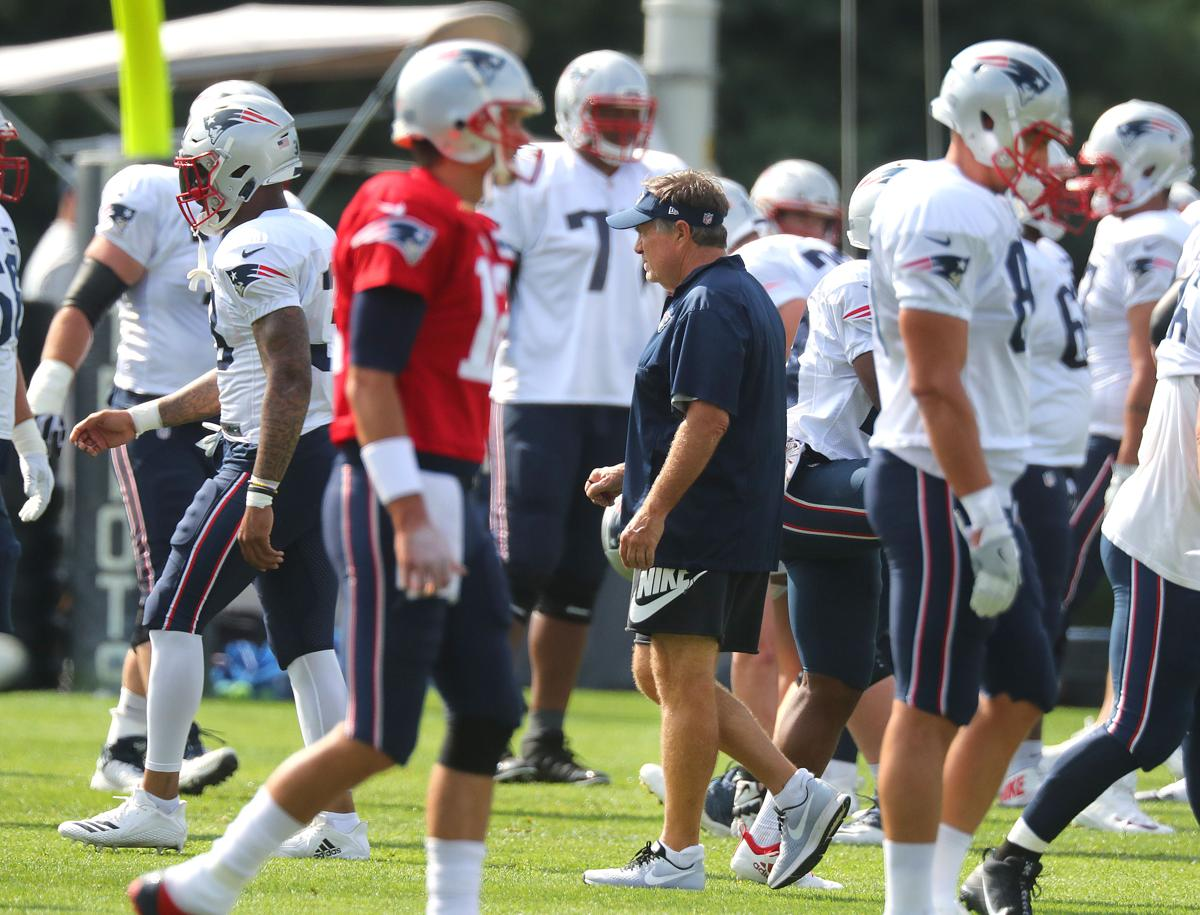 By Ben Volin. Bill Belichick (center) will have some tough decisions when  picking the 53-man 16619f6be