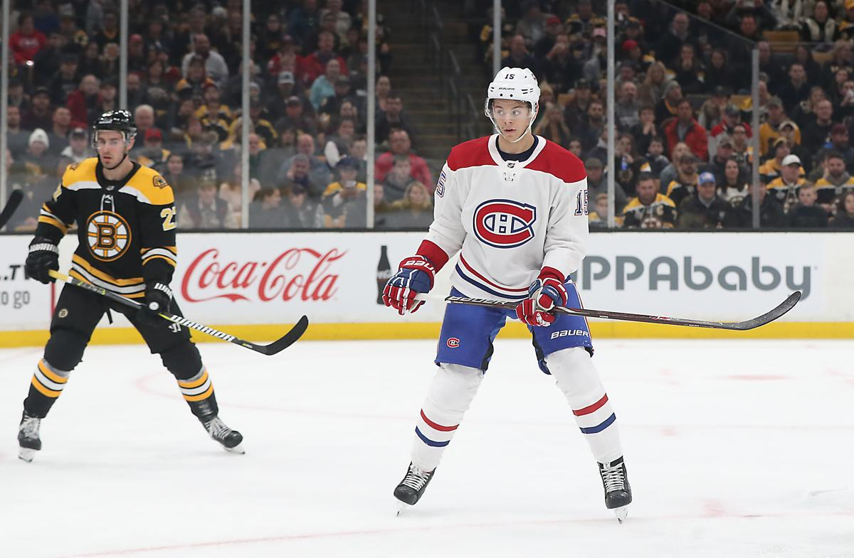 Boston MA 10 27 18 Montreal Canadians rookie Jesperi Kotkaniemi against the  Boston Bruins 65e48e113