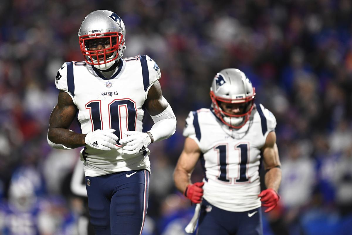 230737885 Josh Gordon (10) and Julian Edelman (11) combined for 13 catches and