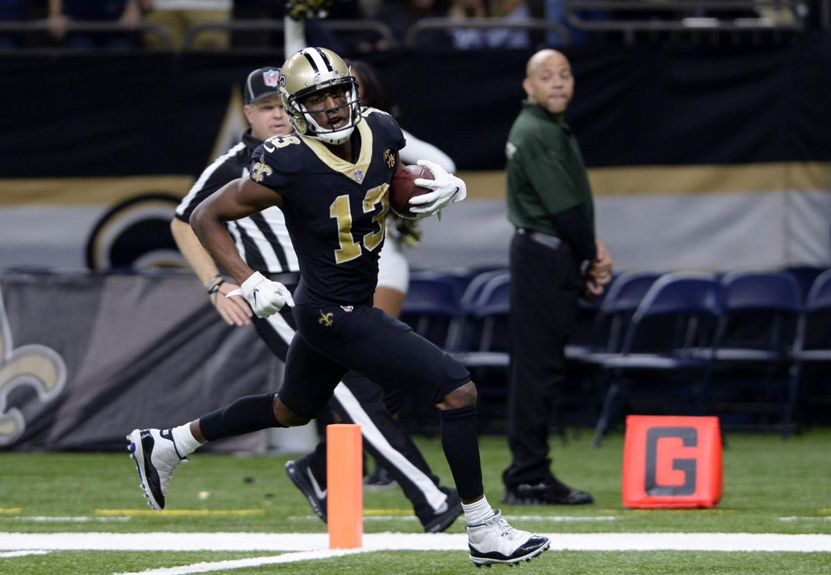 New Orleans Saints Wide Receiver Michael Thomas  Scores On A  Yard Touchdown