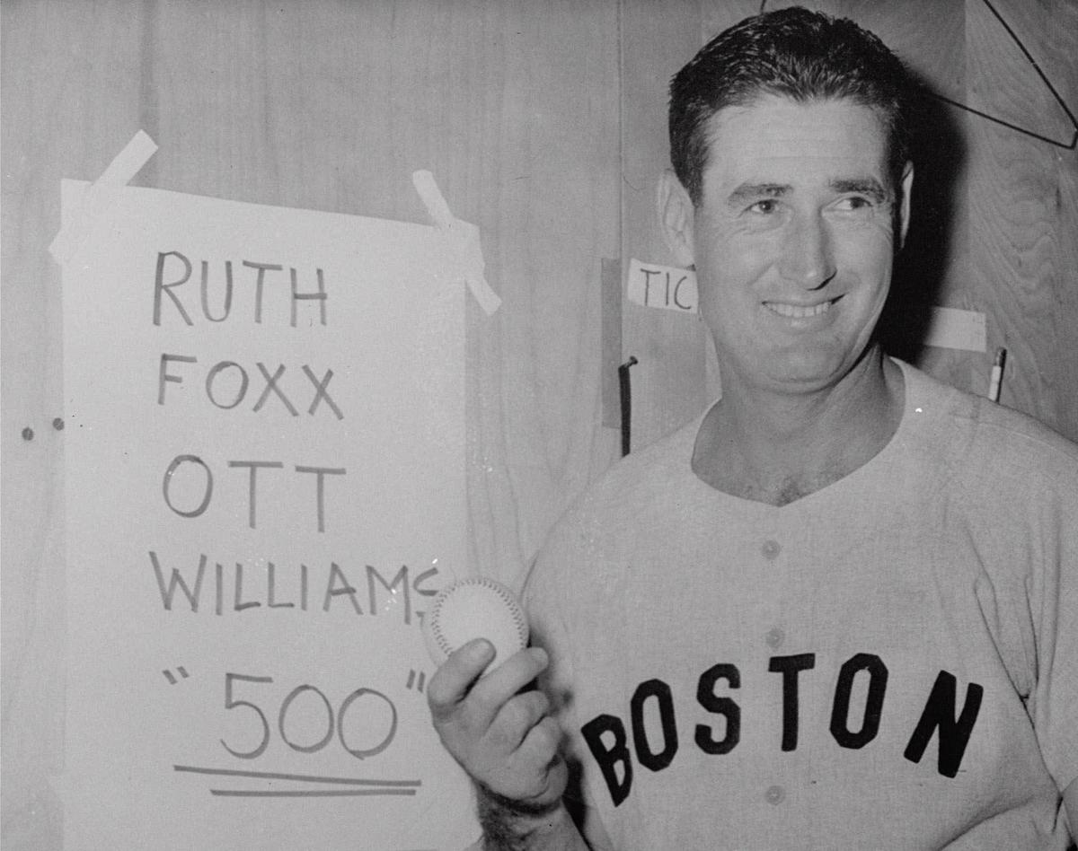 file boston red sox ted williams displays the baseball he hit in for the