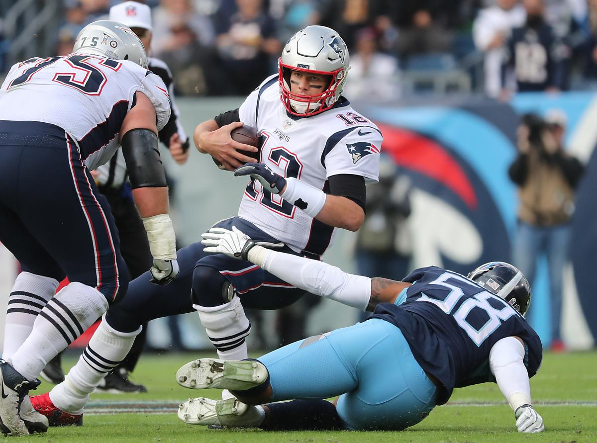 Nashville TN 11 11 18 New England Patriots Tom Brady is sacked by Tennessee 1aca7242d