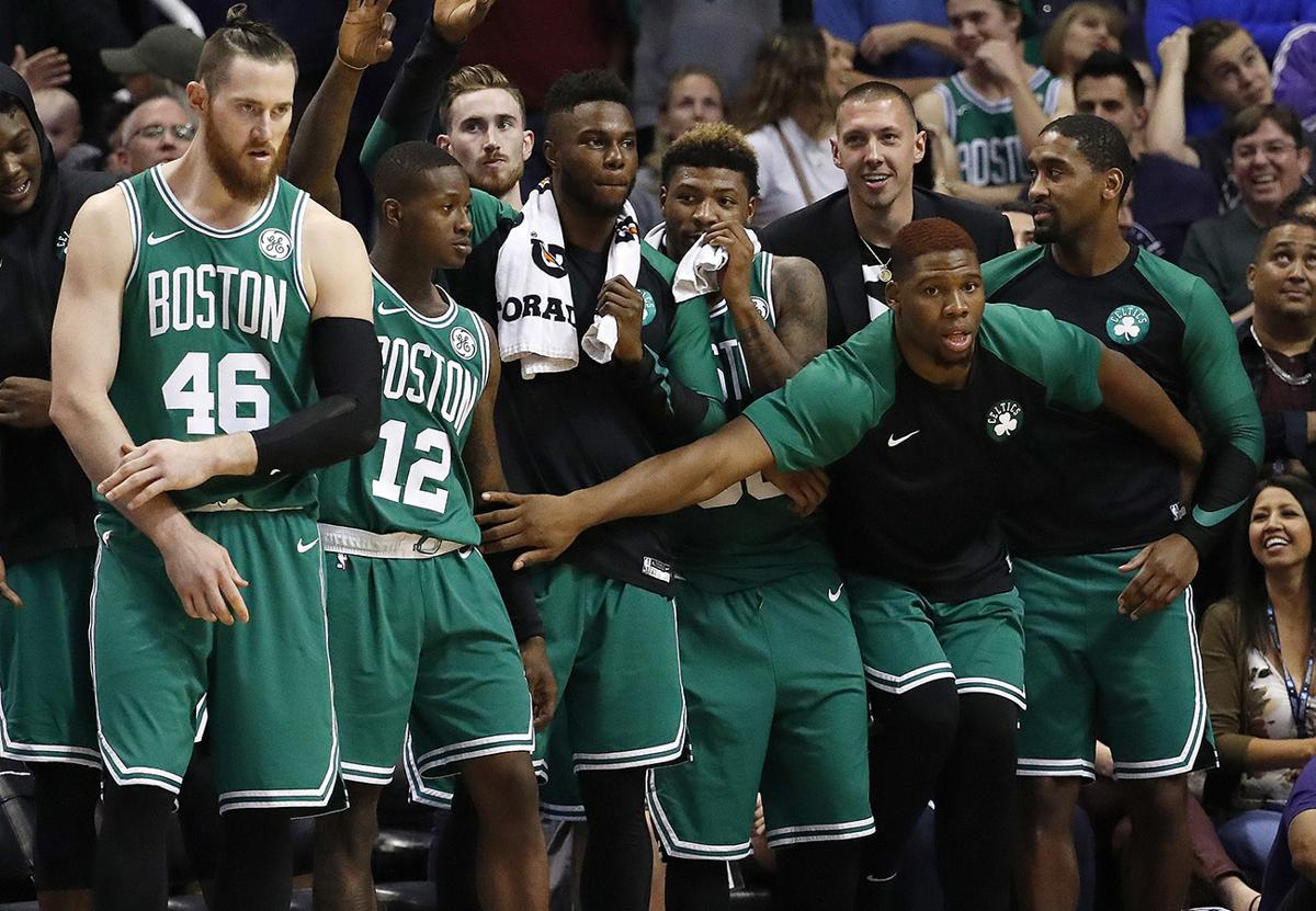Image result for celtics bench 2018