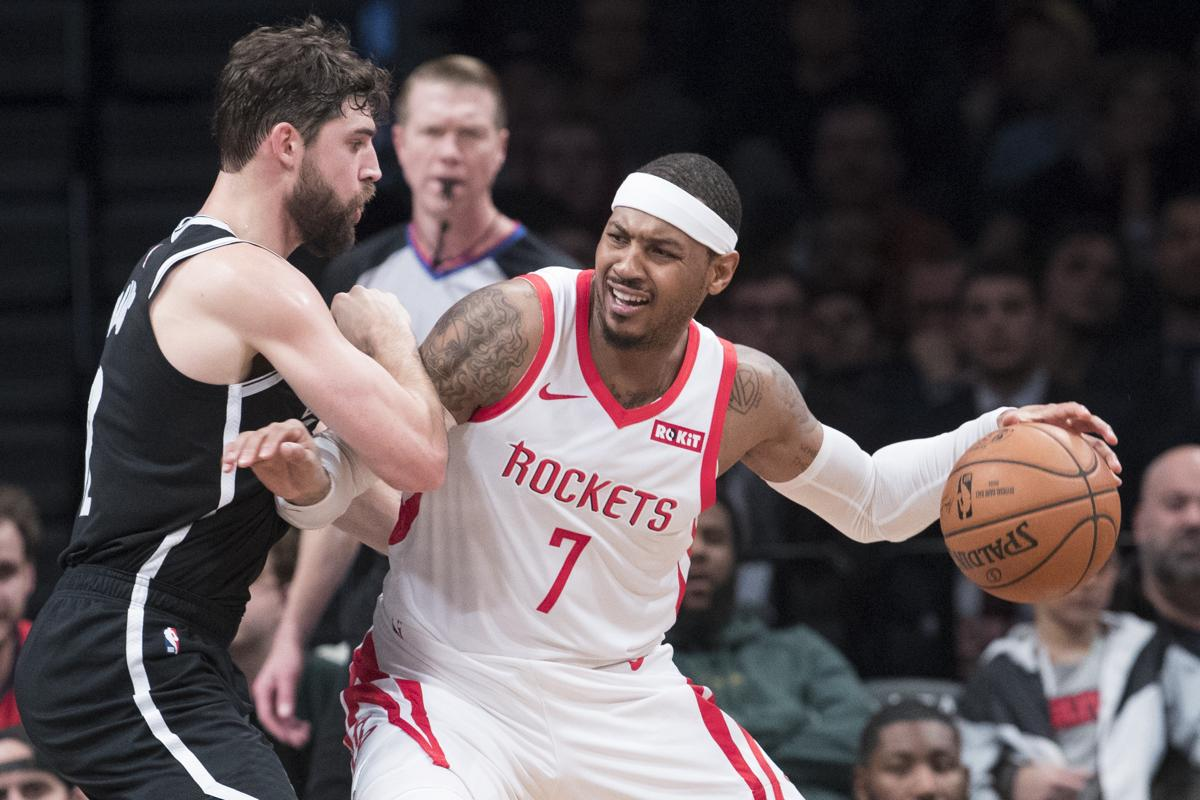 577fc7c2bc0bd Carmelo Anthony last justed 10 games with the Rockets.