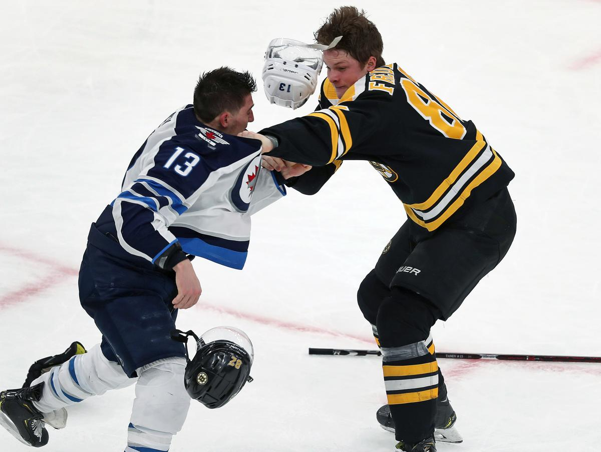 73e4204a3 Trent Frederic had quite an NHL debut  Skating with his idol and a major  fight