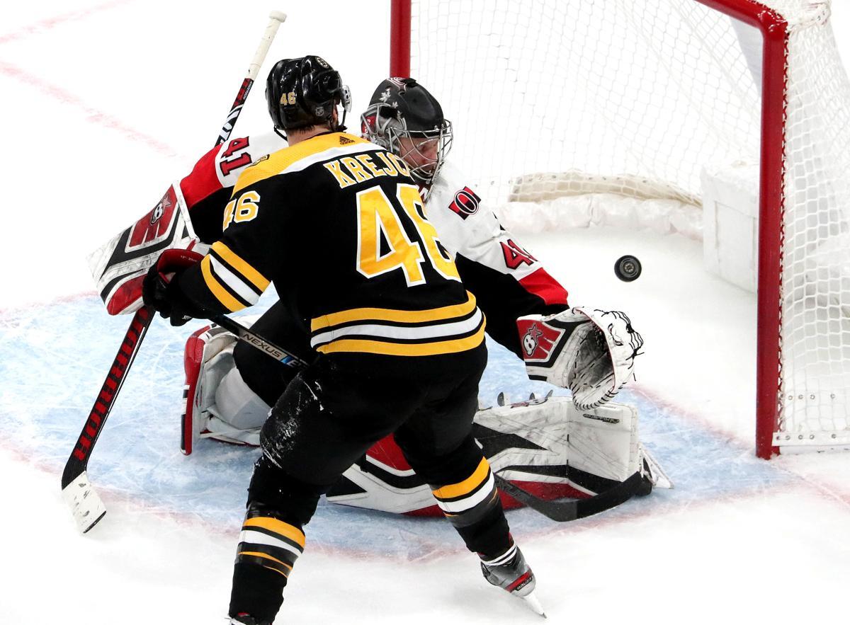 190aa9c6c29 David Krejci s goal with 45 seconds left rallies Bruins