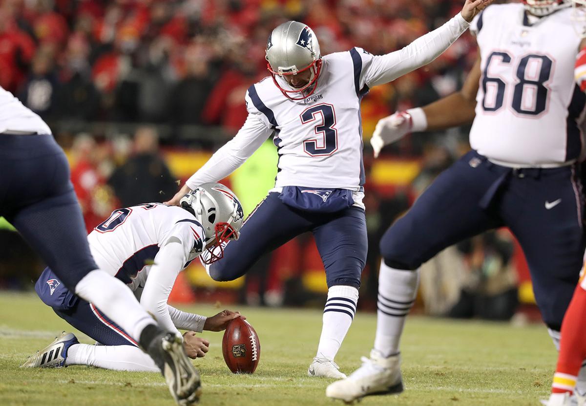 b73ed68dbbe 01-20-19: Kansas City, MO: New England Patriots kicker Stephen