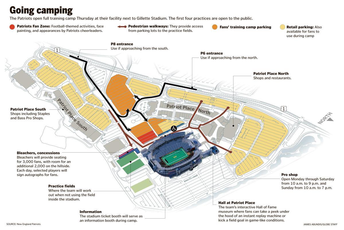 Patriots training camp: Finding your way around Gillette Stadium