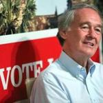 Edward Markey greeted supporters in Lowell Sunday.