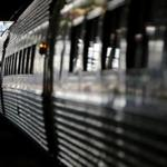 Abington, MA 11/24/2015 – A passenger boards an Amtrak train at South Station in Boston, MA on November 24, 2015. The Tuesday before Thanksgiving is considered the busiest travel day of the year in Boston. (Globe staff photo / Craig F. Walker) section: Business reporter: