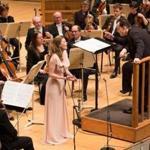 Soprano Barbara Hannigan with Andris Nelsons and the BSO Thursday.