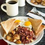 Corned beef hash at Mul's Diner in South Boston.