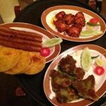An assortment of tandoori dishes at Kebabs and Kurries in Bangalore.