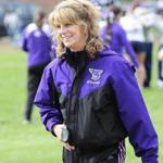 for Globe South - 15sostone - Stonehill cross country Head Coach Karen Boen of Brockton (Richard Orr/Stonehill College) Library Tag 11152009 Globe South