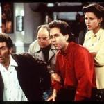 "From left: Michael Richards, Jason Alexander, Jerry Seinfeld, and Julia Louis-Dreyfus in ""Seinfeld."""