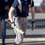 Malden, MA: 04-27-2016: Gigi Braga (no. 10) of Medford High School during softball game against Malden HS in Malden, Mass. April 27, 2016. For story about