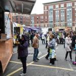 Food trucks at the SoWa Open Market.