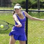 Martha's Vineyard's Elizabeth Williamson (above) teamed with Victoria Scott to win the South doubles.