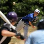 Kevin Buckley delivers a pitch in an AAU game last week for the Mariners 15U squad.