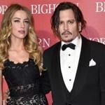 Amber Heard and Johnny Depp in January, before they split.