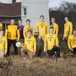 Eastham, MD - 12/7/2016 - The Nauset Regional soccer team poses for a portrait in Eastham, MD on December 7, 2016. (Keith Bedford/Globe Staff) Topic: Reporter: