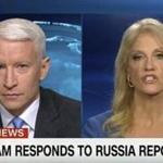 CNN anchor Anderson Cooper and presidential adviser Kellyanne Conway.