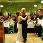 The wedding dance at Wahlburgers.
