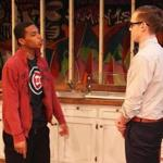 "Jalani Dottin-Coye (left) and Matthew Fagerberg in ""Exit Strategy."""