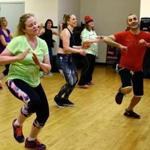 Marco Belluardo-Crosby leads his Dance Jam class on Sunday morning, March 19, 2017, at the Lynch van Otterloo YMCA, located in Marblehead. Mark Lorenz for The Boston Globe