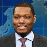 "Michael Che (right) and Colin Jost during Weekend Update on ""Saturday Night Live."""