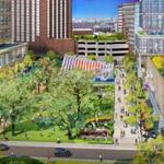 A planned extension of Broad Canal Way into the Volpe Site in Kendall Square. MIT Tuesday filed zoning plans for the 14-acre site, which will include up to 1,400 units of housing, office and lab space and street-level retail.