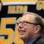 Boston, MA - 06/22/17 - Steve Nazro (cq), longtime event scheduler at the Boston Garden and its incarnations, at his retirement party. (Lane Turner/Globe Staff) Reporter: (Kiana Cole) Topic: (23garden)