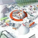 A rendering of the HUBweek installation at City Hall Plaza.